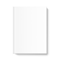 Blank book cover template on white background vector