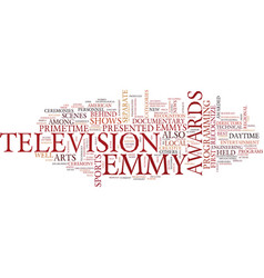 Emmy awards text background word cloud concept vector