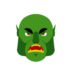 Ogre angry emoji goblin evil emotion isolated vector