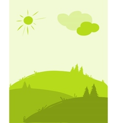 Green hills landscape for your design vector image