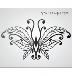 Stylized butterfly vector