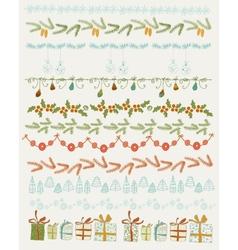 Set of Christmas and vector image