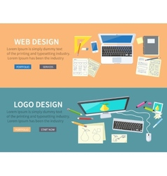 Web and logo design concept vector