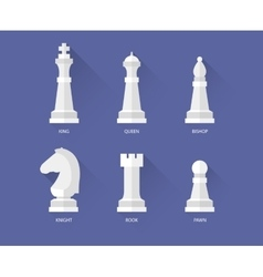 Chess flat icons vector