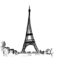 Eiffel tower in paris france vector