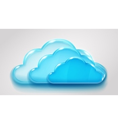 Glass multilayered cloud vector