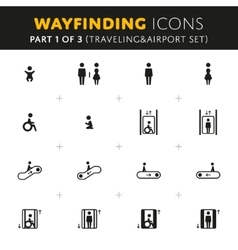 Wayfinding Icons Set vector image