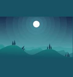 Background game hill at night collection vector