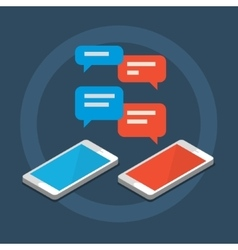Concept of a mobile chat vector image vector image
