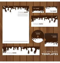 Corporate identity template Business set design vector image