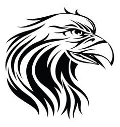 eagle tattoo vintage engraving vector image