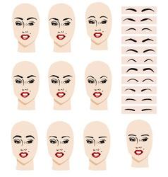Eyebrow shape vector