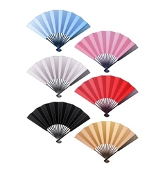 Fans in different colors vector