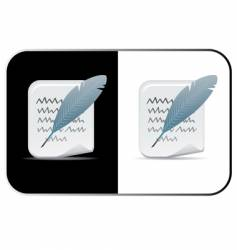 feather and paper vector image