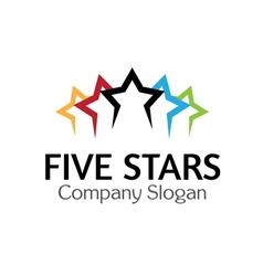 Five stars design vector
