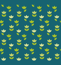 folk atyle holland tulip repeatable motif simple vector image