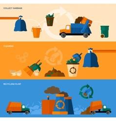 Garbage banner set vector