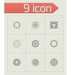 Gear icon set vector