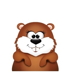 Groundhog day marmot on white background vector