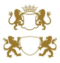 Heraldic crests silhouettes vector