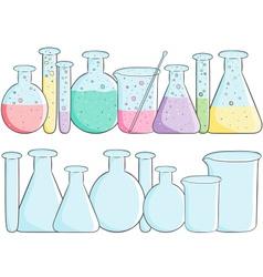 Laboratory test tubes vector