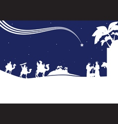 Nativity scene monocrome vector