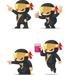 Ninja customizable mascot 5 vector