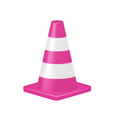 Pink traffic cone vector