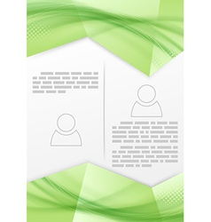 Print booklet green soft smooth line design vector image vector image
