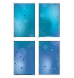 Rainy window white vector