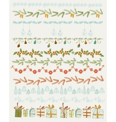 Set of Christmas and vector image