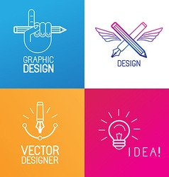 set of logo design elements vector image vector image