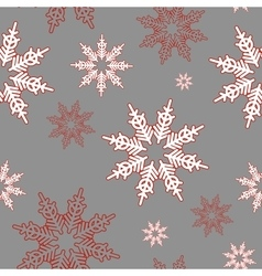 Snowflakes Seamless christmas pattern vector image