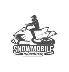 Snowmobile dadges logo badge emblem vector