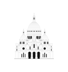 The sacred basilica sacre coeur in france - 1 vector