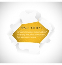 torn hole in paper vector image vector image