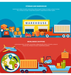 Two logistic banner set vector