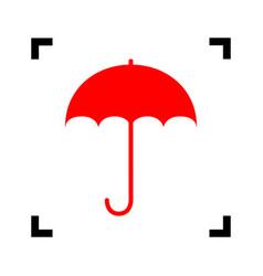 Umbrella sign icon rain protection symbol flat vector