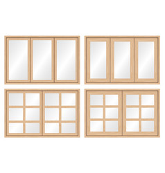 wood window frame vector image