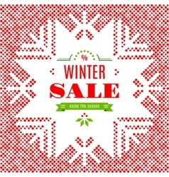 Winter sale background poster card vector