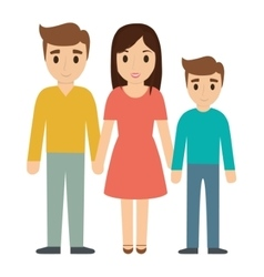 Parents and son family design vector