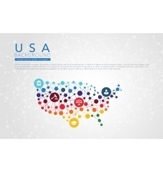 Usa dotted background vector