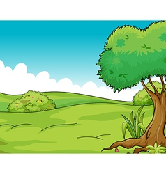 Clean and green view vector image