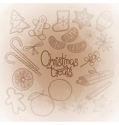 Graphic christmas treats vector image