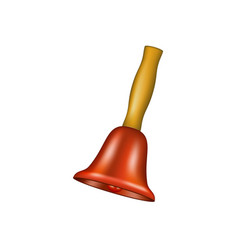 Bell with wooden handle vector
