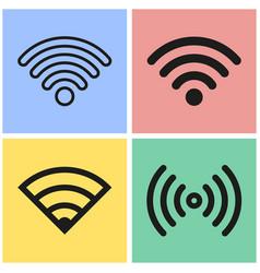 Wi-fi icon set vector