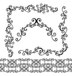 Decorative ornate frame vector
