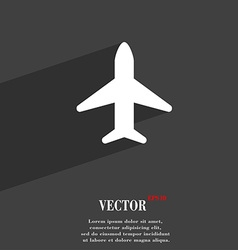 Airplane plane travel flight icon symbol flat vector