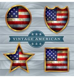 Vintage american flag badges and emblems vector