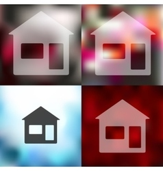 House icon on blurred background vector